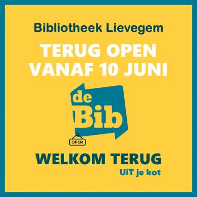 Bib Lievegem terug open vanaf 10 juni